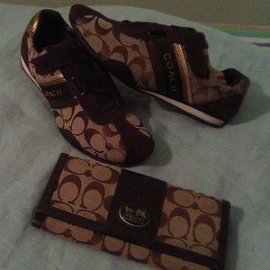 Coach shoes with wallet